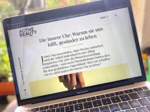 Interview über die innere Uhr mit Michael Wieden Active Beauty